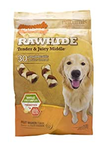 Nylabone Rawhide Filet Mignon Flavored Braid Puppy Dog Treat Bone