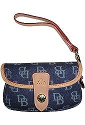 Dooney and Bourke Flap Wristlet Wallet Denim Blue