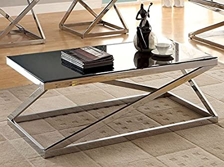 Bonsallo Coffee Table In Black by Furniture of America