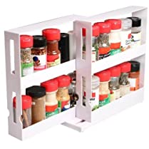 BRAND NEW SWIVEL STORE SPICE BOTTLES KITCHEN SHELF TIDY HOLDER TRAY CABINET ORGANIZER