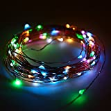 Minger Led String Light 10ft 30 Leds Waterproof Starry String Light Battery Powered Halloween Decoration Lights for Halloween, Party, Christmas, New Year, Wedding, Patio, Garden, Lawn(Multi-colored)