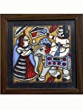 "The India Craft House Veneer Ply Board Contemporary Art Phad Paintings - 12"" x 12"""