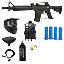 Tippmann US Army Alpha Black Elite Tactical Paintball Gun Ultra Package