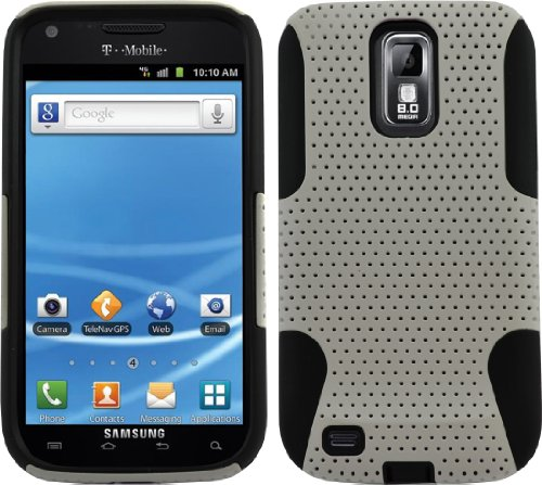 Black White Mesh Case Cover For T-Mobile Samsung Galaxy S2 Sii T989 Hercules