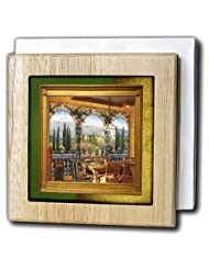 Susan Brown Designs Places Themes - Tuscan Villa - Tile Napkin Holders - 6 inch tile napkin holder by 3dRose