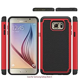 [For Samsung Galaxy Note5 ]Luxury Fashion Rugged Shockproof Holster Heavy Duty Armor Shield 2-in-1 Hybrid Dual Case Cover Skin by Arcraft(TM)