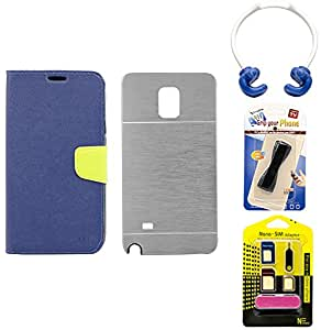 Mify Mobile Accessories Combo for Samsung Galaxy Note 4, Grey & Blue