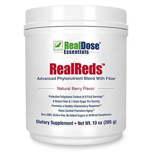 Doctor Formulated RealReds Antioxidant Powder - Includes Prebiotic Fiber, Polyphenols & Organic Superfoods - Non-GMO Fruit, Blueberries, Pomegranate, Grape Seed, Strawberries & Cherry - 30 Servings (Apple Polyphenol Extract compare prices)
