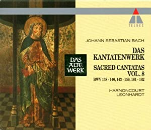 Bach Sacred Cantatas Vol 8 Bwv 138-140 143-159 161-162 Harnoncourt by Teldec