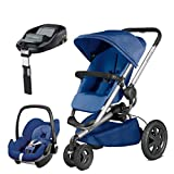 Quinny Buzz Xtra Blue Base with Pebble Car Seat and Familyfix Base