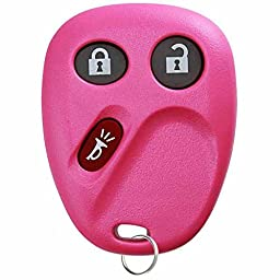 KeylessOption Keyless Entry Remote Control Car Key Fob Replacement for LHJ011 - Pink