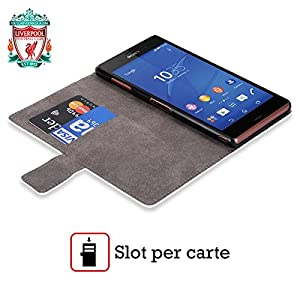 Official Liverpool Football Club Liver Bird Away Shirt Kit 2016/17 Leather Book Wallet Case Cover For Sony Xperia Z / C6603 / C6602 by Liverpool Football Club