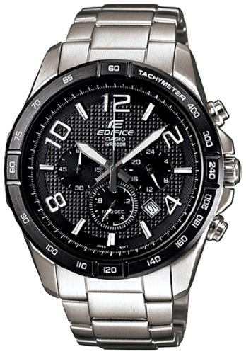 Casio Men's Edifice EFR516D-1A7V Silver Stainless-Steel Quartz Watch with Black Dial Reviews