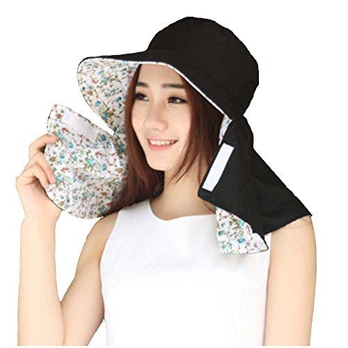 (リワード) REWARD 日よけカバー 帽子 UVカット 紫外線 日焼け防止 リバーシブル (ブラック)