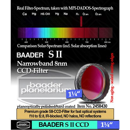 "Baader Planetarium 8Nm Sii Ccd Filter, 1.25"" Mounted"