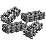 8x rails droits + 8x rails incurvés - Rails droits et incurvés Lego, Rails courbes Lego City Courbé ((Une boîte cadeau offerte)