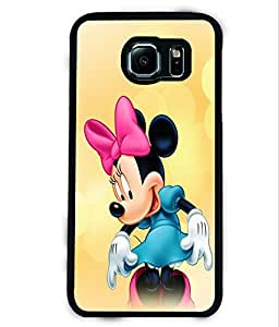 PRINTVISA Micky Mouse Premium Metallic Insert Back Case Cover for Samsung Galaxy S6 - D6108