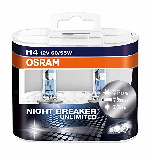 OSRAM-NIGHT-BREAKER-UNLIMITED-H4-Lampada-alogena-per-proiettori-64193NBU-HCB-110-in-pi-di-luce-20-pi-bianca-confezione-Duobox