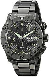 Edox Men's 01115 37N NV Chronoffshore Analog Display Swiss Automatic Black Watch