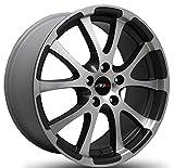 ABU Wheels ABU1 8x18 ET35 LK 5 x 112 Schwarz Silber Poliert 18 Zoll Alufelge Felge Audi Seat Skoda VW LM Rad