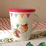 [ココちゃん]COCOちゃん ふた付きマグカップ ピンク