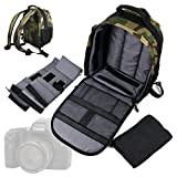 DURAGADGET Premium Quality, Water-Resistant Camera Camouflage Rucksack / Backpack for the NEW Canon EOS M3 / EOS 760D / EOS 750D / EOS 5DS / EOS 5DS R - With Customizable Padded Interior & Bonus Raincover