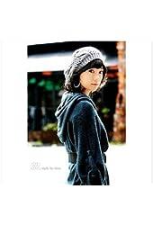 Handmade Gray Color Women's Warm Winter Beret Braided Baggy Beanies Crochet Hat Ski Cap