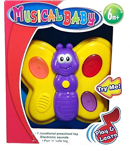 Cute Butterfly Musical Baby Toy (6 Months and Up) - 1