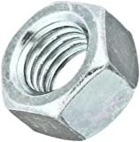 Steel Hex Nut, Zinc Plated Finish, Grade 5, Right Hand Threads, Inch
