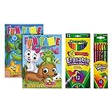 Crayola 12 Count Erasable Colored Pencils   Crayola Twistable Colored Pencil   2 Children's Activity Coloring Books (Tamaño: Bundle)