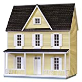 Real Good Toys Real Good Toys Finished 1/2 Scale Farmhouse Dollhouse - Yellow, Black, MDF