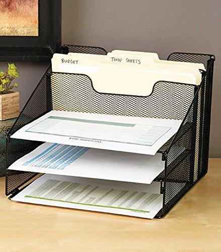 vanra-Metall-Mesh-Desktop-Datei-Sortiermaschine-Organizer-Schreibtisch-Tablett-Organisieren-mit-3-Briefablagen-und-2-horizontale-aufrecht-Sektionen-schwarz
