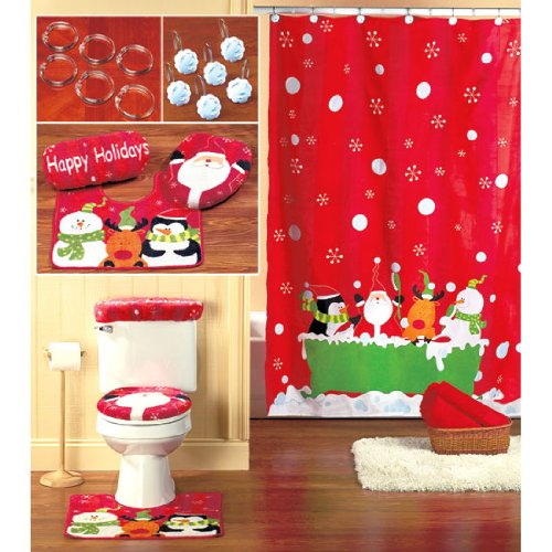 christmas bathroom sets