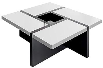 Regalwelt GmbH, Tavolino da salotto di design, 80 x 80 x 35 cm, Bianco (Alpineweiß)