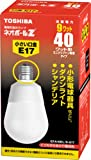 TOSHIBA ネオボールZ A形 40WタイプE17口金 電球色 EFA10EL/9-E17