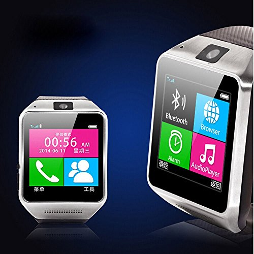 Asmart Center® Gv08 1.5''Sport Smart Watch Bluetooth Touch Screen 1.3Mp Camera Supports Sim Card Bluetooth Watch Phone Sync Function For Samsung Htc Sony Android Cellphones-Black
