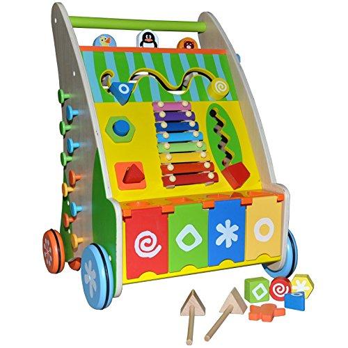 Puppenwagen Holz FUr 2 Jährige ~   Lauflernhilfe Holz Baby Walker Laufwagen Puppenwagen Gehfrei Wagen