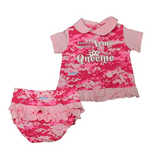 Infant / Baby / Toddler U.S. Army 2 Pc Pink Camo Dress (0-3 MONTHS)