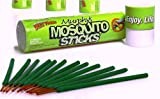 Murphys Mosquito Sticks - All Natural Insect Repellent Incense Sticks - Bamboo Infused with Citronella, Lemongrass & Rosemary - 12 Per Tube