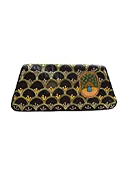 Spice Art Black Hand Painted Embroidered Clutch