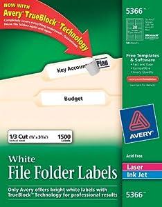 5366 file folder labels