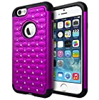 iPhone 6 Case, Cimo [Shockproof] Apple iPhone 6 Case Heavy Duty Shock Absorbing Hybrid Stud Rhinestone Bling Dual Layer Protection Cover for Apple iPhone 6 (4.7) - Purple