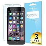 iPhone 6 Plus Screen Protector, Spigen® [Full HD] iPhone 6 Plus (5.5) Screen Protector [Crystal Clear][3-PACK]**JAPANESE BASE PET FILM** High Definition (HD) Premium Ultra Clear Front Screen Protector for iPhone 6 Plus (5.5) (2014) - Crystal CR (SGP10873)