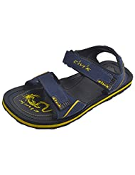 CIVIK Men's Sandals(BLUE/YELLOW)-RR297