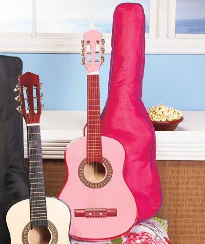 Kids-Wood-Guitar-WCase-Pink-by-GetSet2Save