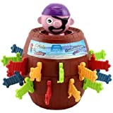 Funny Lucky Stab Pop Up Gadget Pirate Barrel Kid Children Game Toy