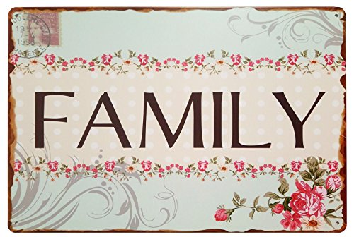 ERLOOD Family Welcome to My Home - Retro Vintage Tin Sign 12