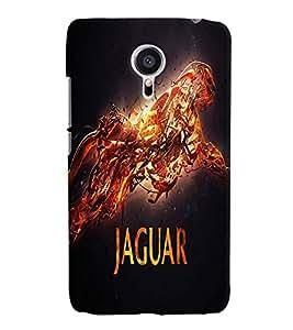 Fuson Jaguar Back Case Cover for MEIZU MX5 - D3675