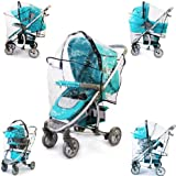 ALL IN ONE RAIN COVER for HAUCK MALIBU ALL IN ONE 3 IN ONE RAINCOVER TRAVEL SYSTEM, CARSEAT, PRAM, CARRYCOT & STROLLER FIT