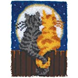 "Wonderart Moonlight Meow Latch Hook Kit, 15"" X 20"""
